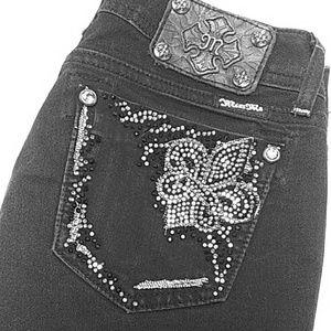 Miss Me black sz 27 skinny jeans